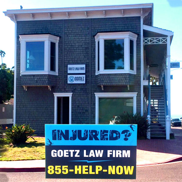 Injured? Goetz Law Office Pictured in Solana Beach 855-HELP-NOW