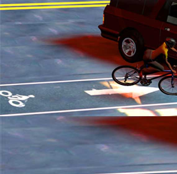 The right hook is a common bicycle v. car accident scenario, occuring even when the bicycle is iriding in a designated bike lane.